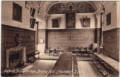 oxford, jesus college, dining hall (frith)